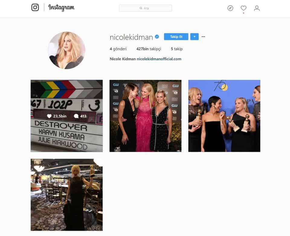 Nicole Kidman Shared First Instagram Post