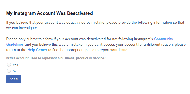 how to retrieve an accidently deleted instagram account
