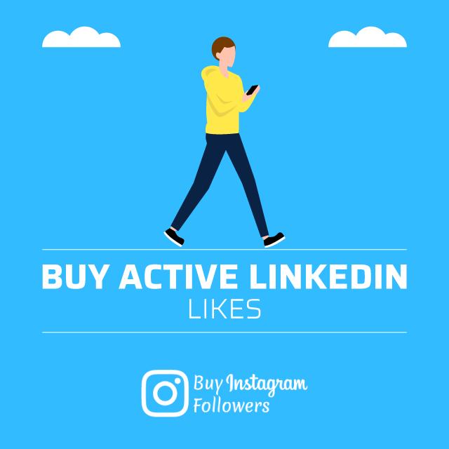 buy active linkedin likes